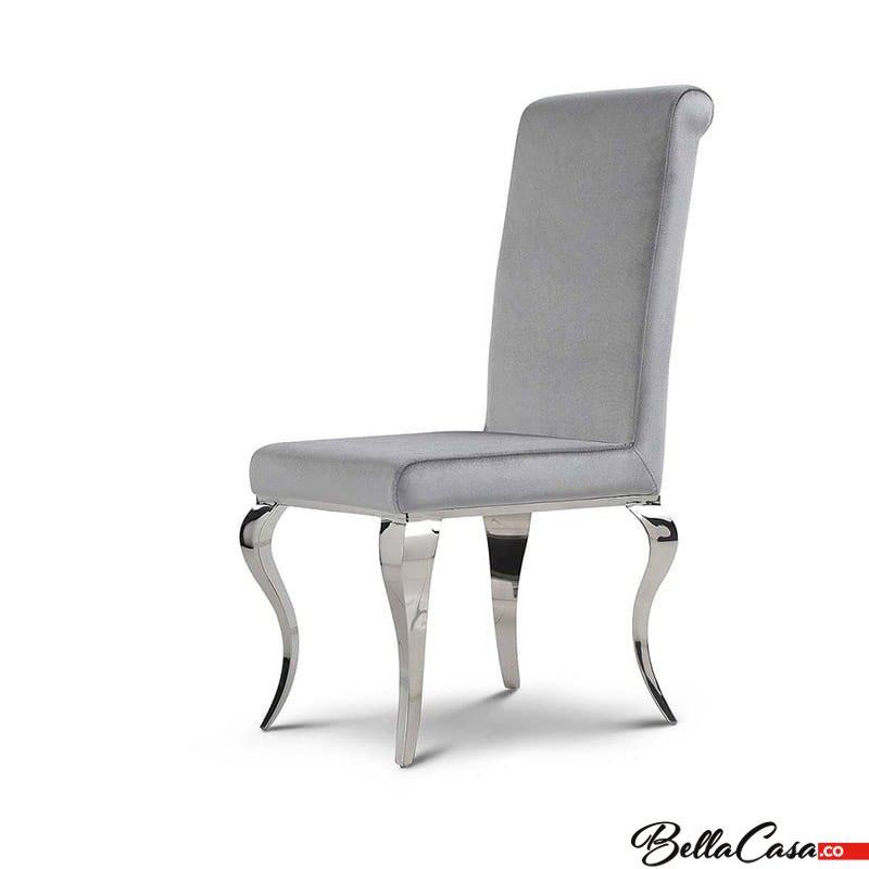 Barock Stuhl Premier Polsterstuhl Silbern Modern 92IeWDHEYb