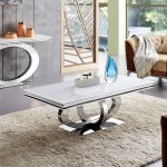 Dallas glamor coffee table - steel stone top