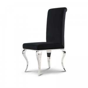 Chair glamor Premier Black - modern chair upholstered