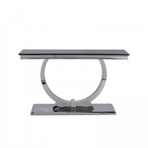 Console table Modena - steel modern glamour glass top