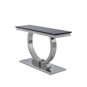 Console table Modena - steel modern glamour stone top