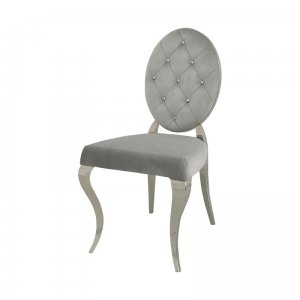 Chair glamor Leonardo Silver - modern chair quilted with crystals