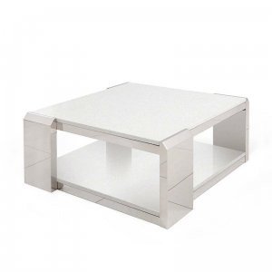 Side table Nathan - steel modern stone top