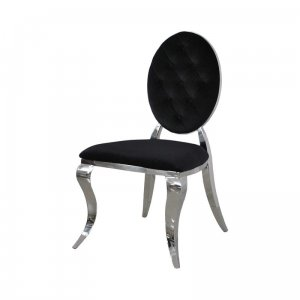 Chair glamor Ludwik II Black - modern chair quilted with buttons