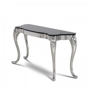 Console table Orlando - steel modern glamour stone top