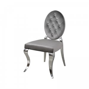 Chair glamor Leonardo Dark Grey - modern chair quilted with crystals
