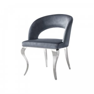 Chair glamor Anatole Dark Grey - modern chair upholstered