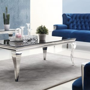 Ludwik glamor coffee table - glass top