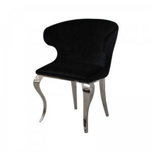 Chair glamor Victor Black - modern chair upholstered
