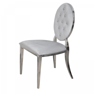 Chair glamor Ludwik Silver - modern chair quilted with crystals