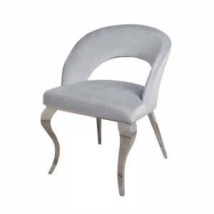 Chair glamor Anatole Silver - modern chair upholstered