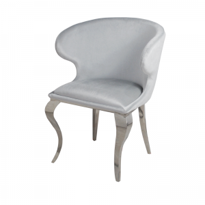 Chair glamor Victor Silver - modern chair upholstered