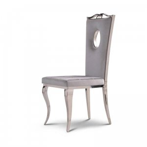Chair glamor Luxury Silver - modern chair upholstered