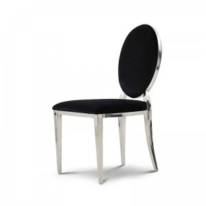 Chair glamor Ludwik Black - modern chair upholstered
