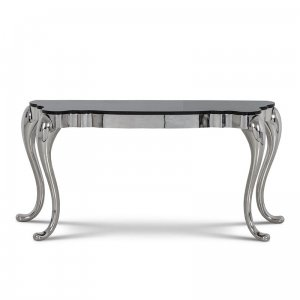 Console table Orlando - steel modern glamour glass top