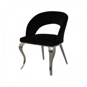 Chair glamor Anatole Black - modern chair upholstered