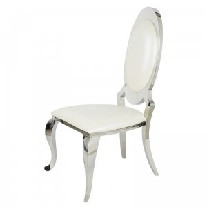Chair glamor Victoria White Eco - modern chair upholstered with eco-leather