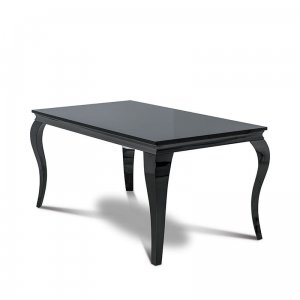 Dining table Ludwik - steel modern glamour stone top