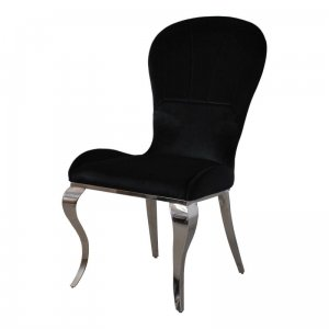 Chair glamor Tiffany Black - modern chair upholstered