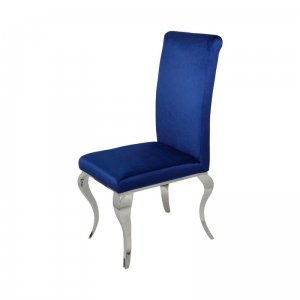 Chair glamor Premier Dark Silver - modern chair upholstered