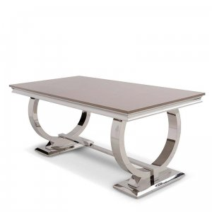 Dining table Modena - steel modern glamour stone top
