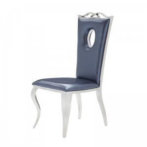 Chair glamor Luxury Blue Eco - modern chair upholstered with eco-leather