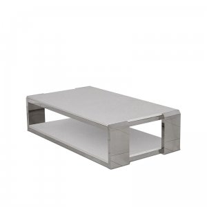 Coffee table Nathan - steel modern stone top