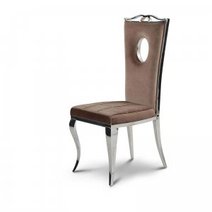 Chair glamor Luxury Brown - modern chair upholstered