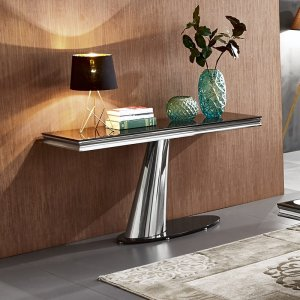 Console table Dorado - steel modern glamour stone top