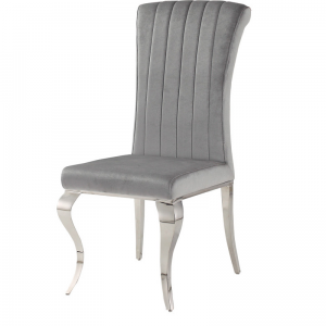 Chair glamor Stanley Silver - modern chair upholstered