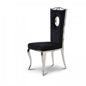 Chair glamor Luxury Black - modern chair upholstered