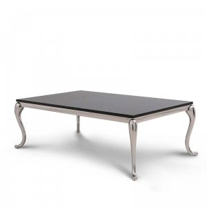 Coffee table Orlando - steel modern glamour stone top