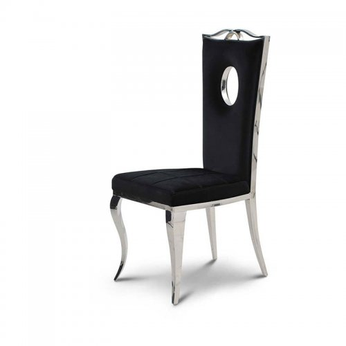 Chair Glamor Luxury Black Modern Chair Upholstered Bellacasaco
